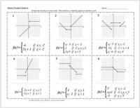 Graphing Piecewise Functions Worksheet Precalculus - Kidz ...