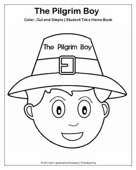 Pilgrim Boy and Pilgrim Girl Take-Home Flip Book (K-3
