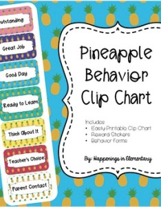 also pineapple behavior clip chart by happenings in elementary tpt rh teacherspayteachers