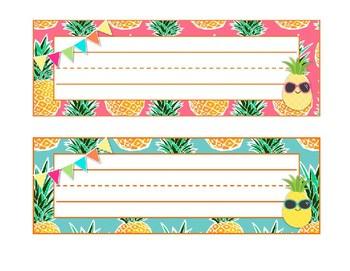 Pineapple Paradise Classroom DecorDeskplatesName Tags