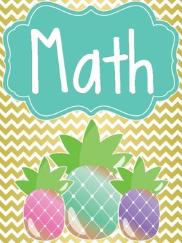 Pineapple Theme Classroom Binder Covers by Rachel Bassett  TpT