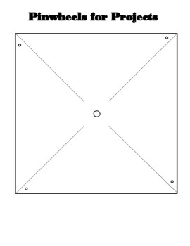 Pinwheel template with instructions Pinwheels for Peace by