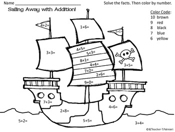 Pirate Fun! ~ Math and Language printables by BZTeacher