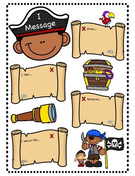 Pirate I Messages Worksheet By Positive Counseling