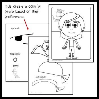 Pirate Math Goofy Glyph (5th Grade Common Core) by Yvonne