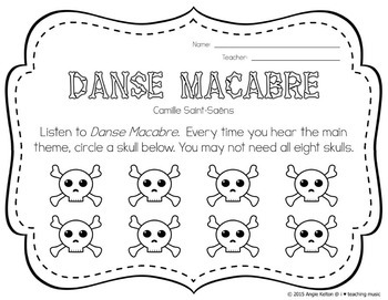 Danse Macabre Guided Listening Activity for Upper