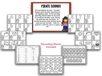 Talk Like a Pirate Day! Blackline Math and Literacy