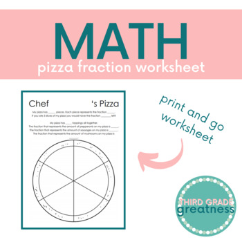Pizza Fraction Worksheet By Third Grade Greatness