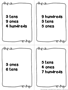 Place Value Centers: 120 Cards to Practice Expanded Form