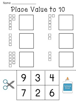 Place Value Worksheets (Base 10 blocks numbers practice