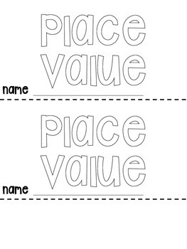Place Value Flip Book {4 options} by Miss Johnston's
