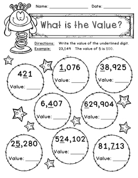 Place Value Game, Worksheets, Book Making Activity, Anchor