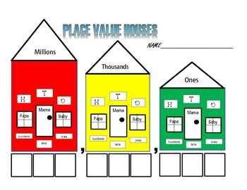Place Value Houses Math Mat Amp Number Cards By The Teacher