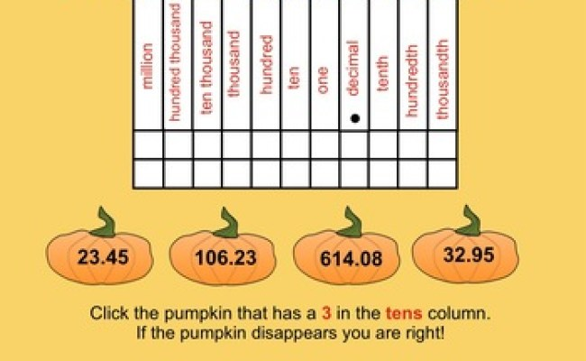 Place Value Picker Game Halloween Theme Interactive