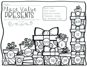 Place Value Presents {Holiday, Christmas Math Station