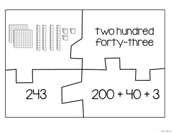 Place Value Puzzles: Standard, Expanded, Word Form by