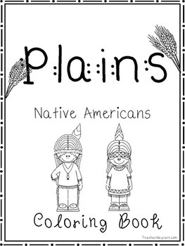 Plains Native Americans Coloring Book worksheets