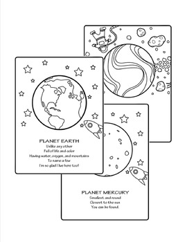 Outer Space: 34 educational coloring pages by Smart Fries