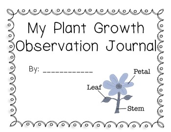 Plant Growth Observation Journal for Celery, Corn, and