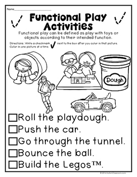Play Skills Printables for Students with Autism & Similar