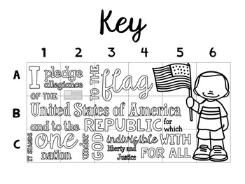 Pledge of Allegiance Collaborative Poster by Tied 2