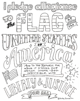 Pledge of Allegiance Coloring Page, Declaration of