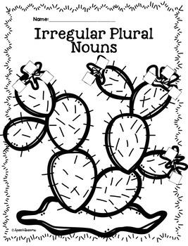 Plural Noun Crafts {Regular Irregular Possessive Noun