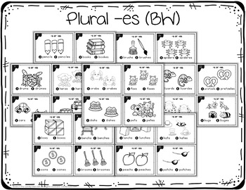 Plural Noun Task Cards with Anchor Charts & Games