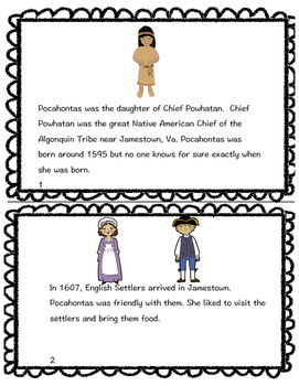 Pocahontas Biography book and review sheets by Sunflower
