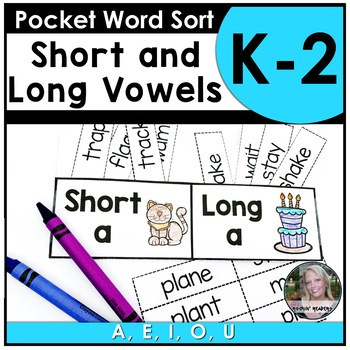 Pocket Sort short/long vowel sounds by JD's Rockin