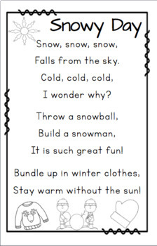 Poems about Weather and Seasons by Miss Ps Style  TpT