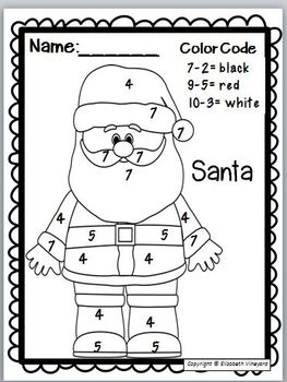 Poems for Christmas, Writing, and Coloring Math Fun Pack