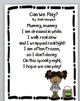 Poems for Halloween, Writing, and Coloring Math Fun Pack
