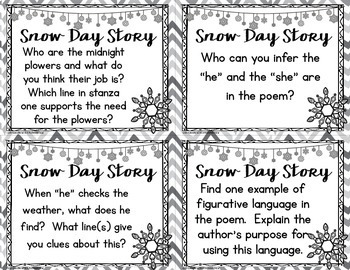 Poetry Comprehension Task Cards by Teaching With a