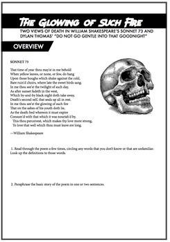Shakespeare Distance Learning: Sonnet 73 & Do Not Go