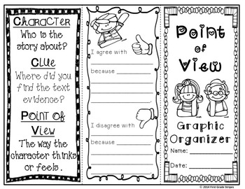 Point of View Graphic Organizers with Anchor Chart Poster