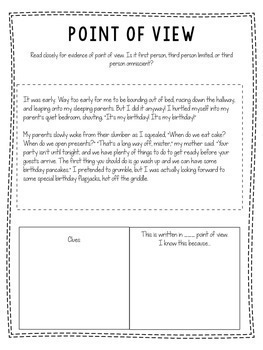 Point Of View Worksheets For Third Grade. Point. Best Free