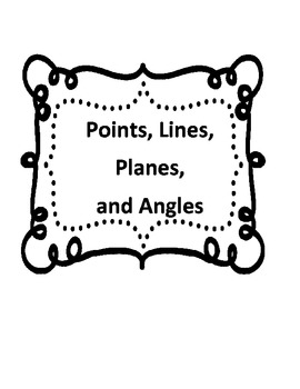 Points, Lines, Planes, and Angles Vocabulary by Classroom