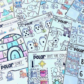 Polar Animal Math and Literacy Worksheets for... by