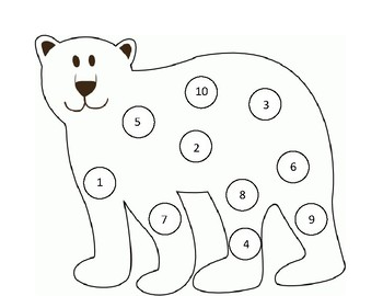 Polar Bear Do-A-Dot Number Match by Hands On Early