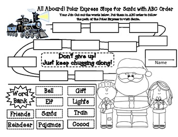 Polar Express Reading Response for Grades 1-2 by Amee
