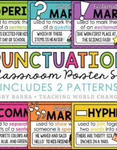 Punctuation marks posters also poster teaching resources teachers pay rh teacherspayteachers