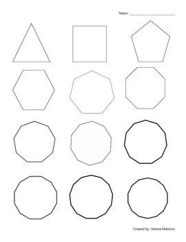 Polygon Interior Angle Sum Theorem Self Discovery