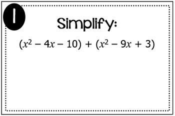Polynomial Operations (Add, Subtract, Multiply) Triples