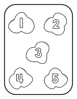 Popcorn Number Match File Folder Game by Preschool in