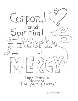 A Spiritual and Corporal Works of Mercy Booklet by Ingrid
