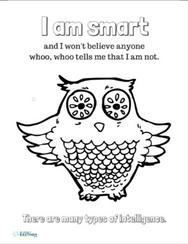 Positive Affirmation Coloring Page by Dr Nicole M Eastman