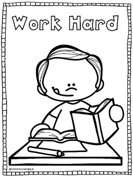 Positive Behavior (PBIS) Coloring Pages by School