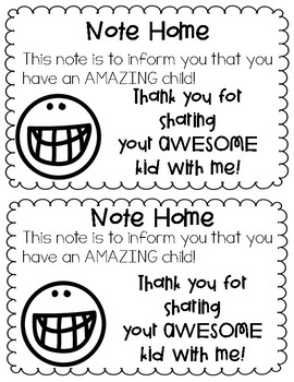 Positive Notes for Parents and Students by First and