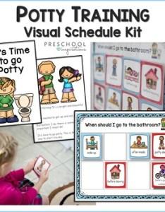 Potty training visual schedule kit newly updated by preschool inspirations also rh teacherspayteachers